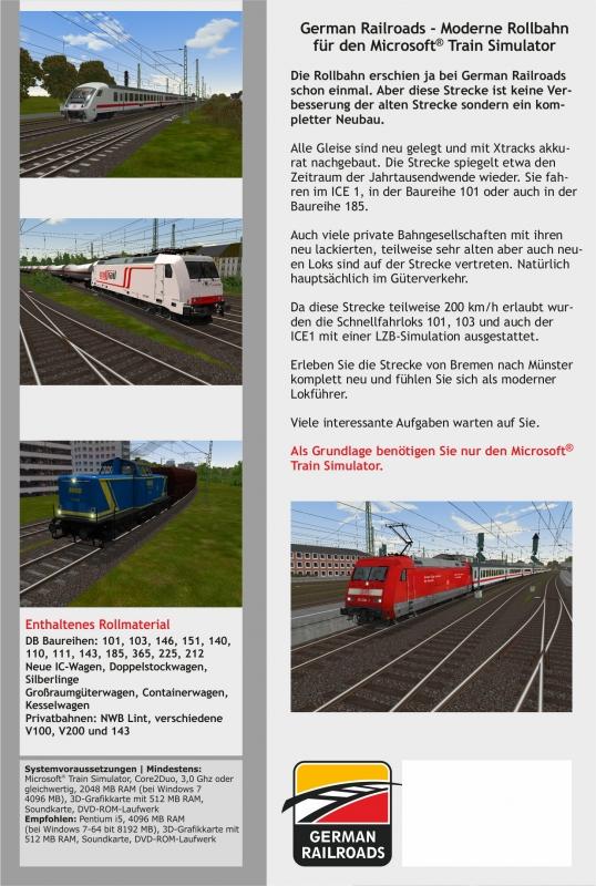 Installierter, funktionsfähiger Microsoft Train Simulator Der MSTS Bin-Patc